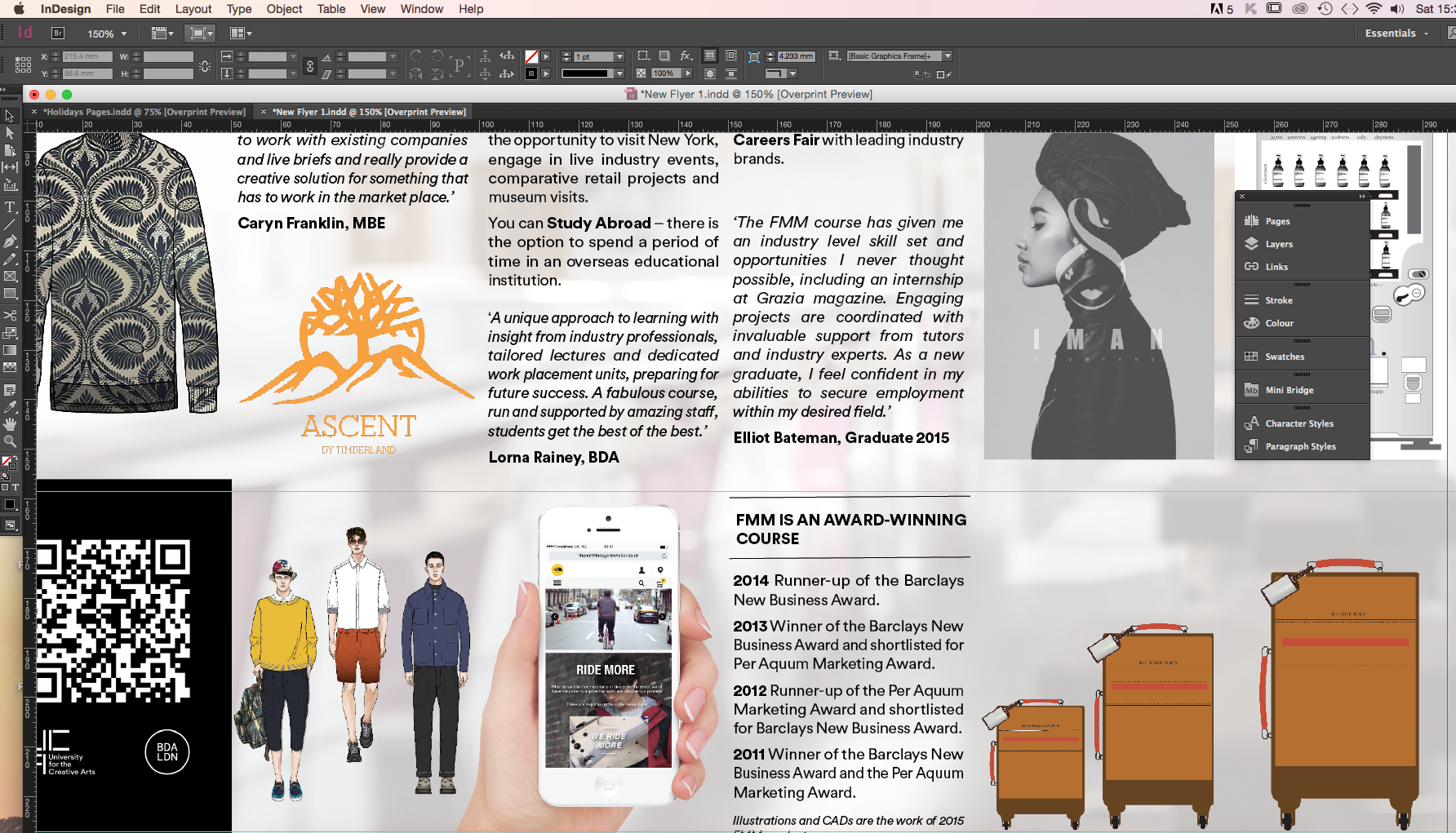 how to create a new page on indesign